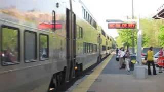 Two MBTA trains meet in Walpole 5/9/09