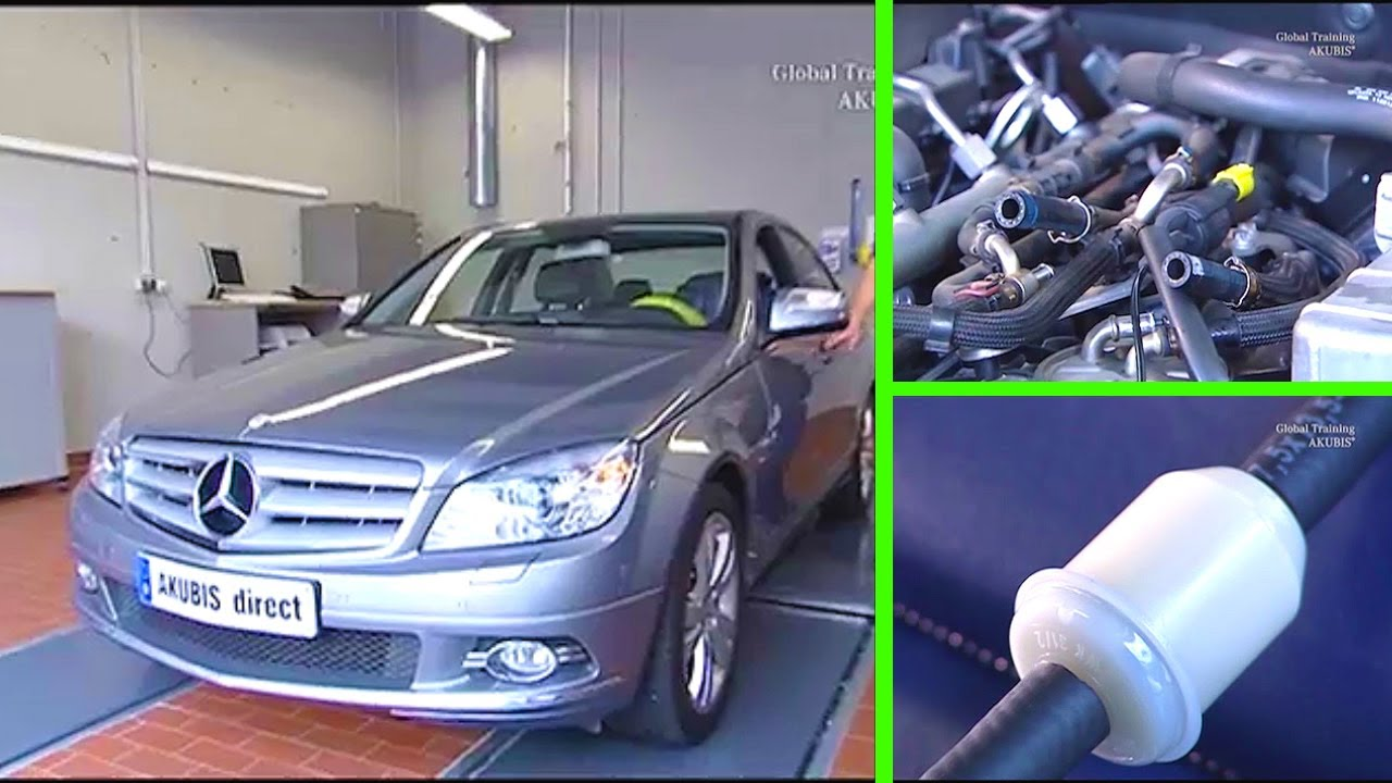 Mercedes Benz C Class Clean Injectors On Engine Om 6468 Evo W204 Ml320 Fuel Filter Location