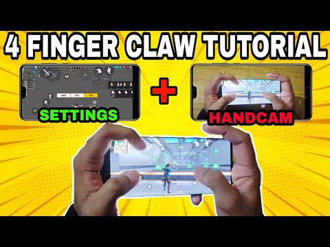Free Fire 4 Finger Claw Tutorial • How To Play 4 Finger Claw in Free Fire • Free Fire Handcam