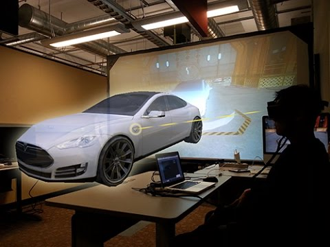 Virtual Car Gallery w/ Hand Gesture and Holographic Experience