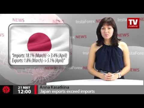 Japan exports exceed imports