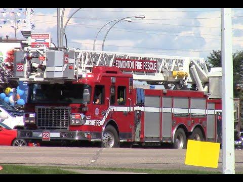 Edmonton Fire Rescue Engine 23 & Ladder 23 Responding