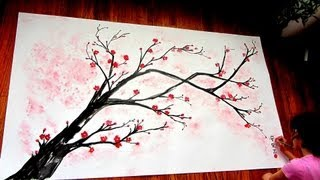 Cherry Blossom Branch Speed Painting