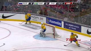Sweden vs  Russia (semifinal 1) 04/01/2015 IIHF Worlds Junior Highlights HD