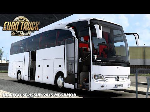 Euro Truck Simulator 2 - Mercedes Benz Travego SE-15SHD-2015 Megamod | ETS2 Mods 1.40