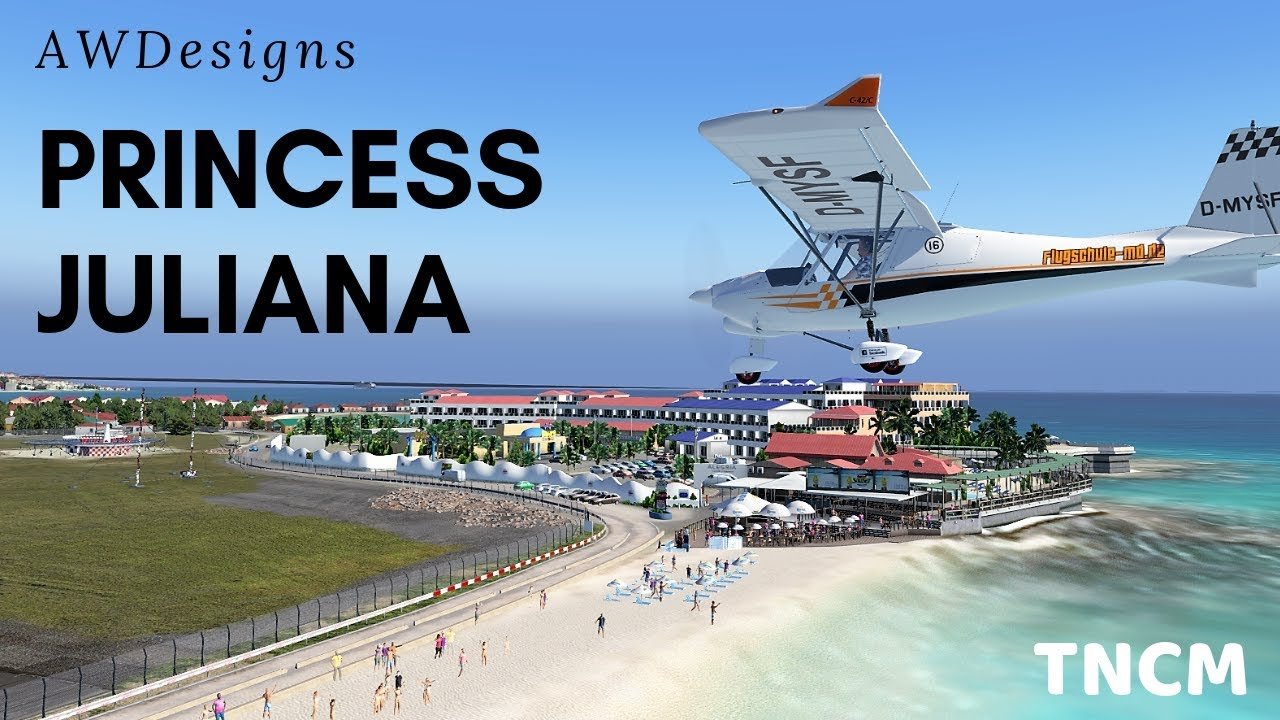 X-Plane 11 - Scenery Review - AWDesigns Princess Juliana and St Maarten