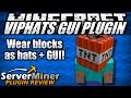 How to wear block hats in Minecraft with VIPHats GUI Plugin