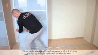 Bīdāmo durvju uzstādīšanas instrukcija(Bīdāmās durvis tiek plaši izmantots sākot ar skapjiem un beidzot ar telpu nodalīšanu, turklāt to uzstādīšanu var paveikt pats saviem spēkiem, stundas laikā., 2012-09-10T13:03:58.000Z)