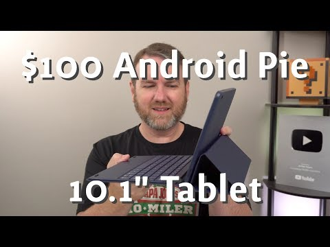 $100 Android 9.0 (Pie) Tablet With Keyboard Cover! Onn 10.1