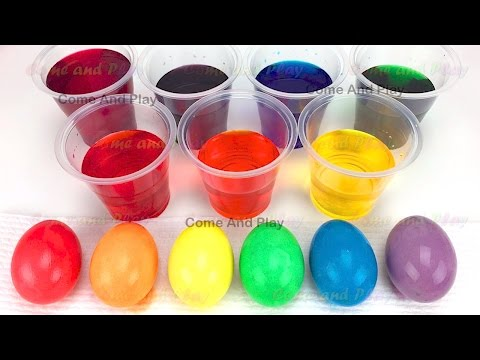 How to Make Colorful Easter Eggs DIY Egg Dyeing for Kids Giant M&M Chocolate Ice Cream Surprise Toys