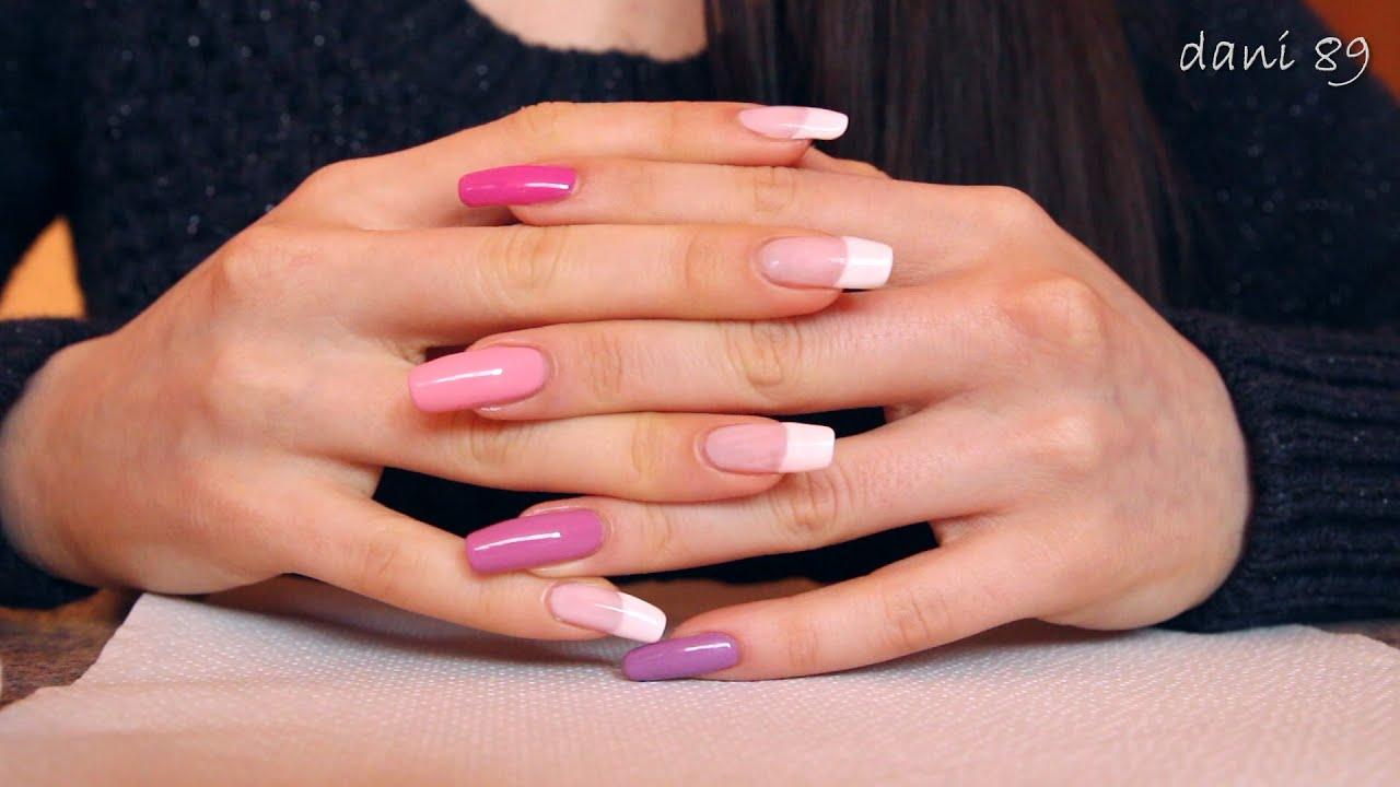 Removing nail polish on MY LONG NATURAL NAILS  - NO GEL ...