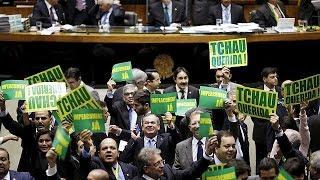روسيف تشن هجوما على ما وصفته بالمؤامرة الإنقلابية ضدها قبل تصويت حاسم لمجلس النواب البرازيل    17-4-2016