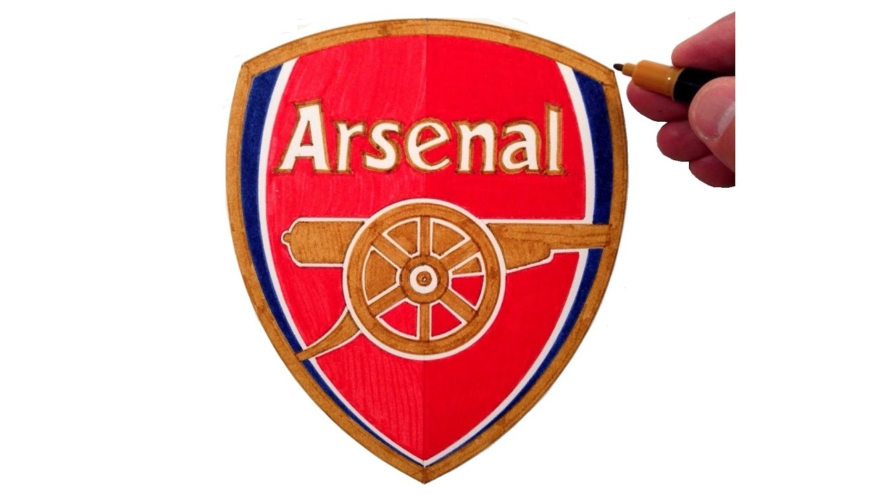 How To Draw The Arsenal Fc Logo Youtube