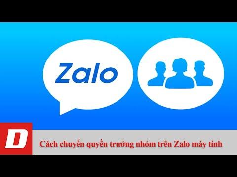 Cách chuyển quyền trưởng nhóm trên Zalo máy tính