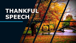 Thankful Speech