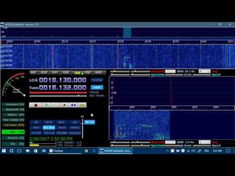 OX5T Amateur Station Nuuk Greenland 18132 USB on Soft66RTL2 Shortwave