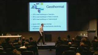 Geothermal heat  pumps - save 50% energy global warming - construction industry - Speaker