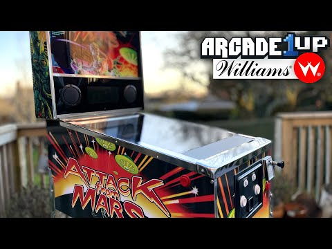 Arcade1Up Williams Video Pinball  - Attack From Mars, Road Show, Fish Tales from FamilyGamerTV