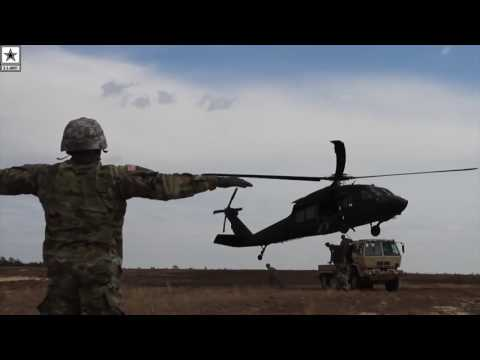 Military | Black Hawk Helicopter Sling Load Operations Leave No Room For Error