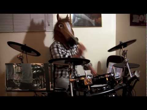 Dethklok Thunderhorse MultiCam Drum  wHorse Mask  Rich Crowley