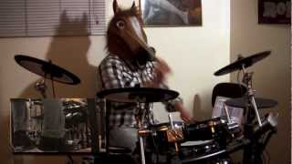 "Dethklok- ""Thunderhorse"" Multi-Cam Drum Cover w/Horse Mask by Rich Crowley"