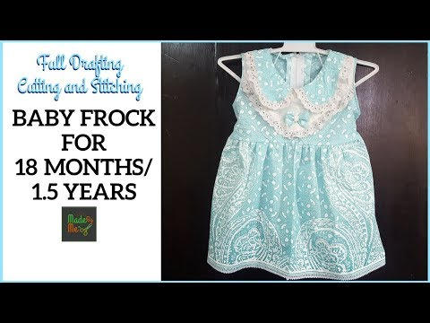 BABY FROCK for 18 Months/1.5 Years with DRAFTING Cutting and Stitching in Hindi/Urdu
