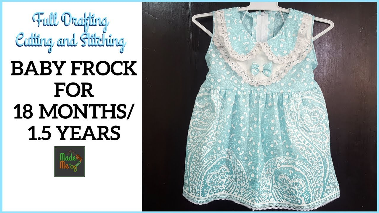 f93f1656d0 BABY FROCK for 18 Months/1.5 Years with DRAFTING Cutting and Stitching in  Hindi/Urdu