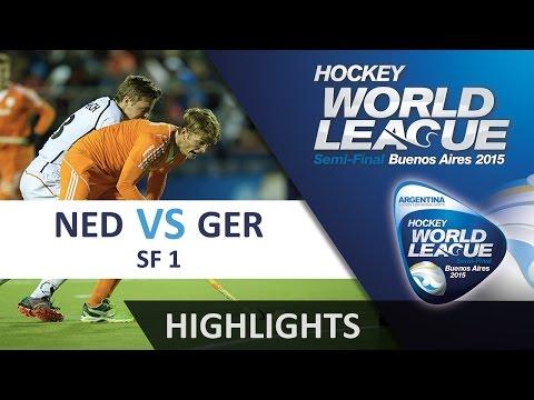 Netherlands v Germany Match Highlights - Argentina Men's HWL (2015)