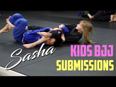 Kids Jiu Jitsu Submissions , Sasha