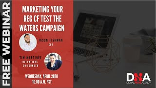 Webinar: Strategies to Prep For Your Test The Waters Campaign