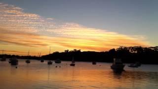 A wonderful sunset in 7 Episodes. BICTON, Perth, Australia