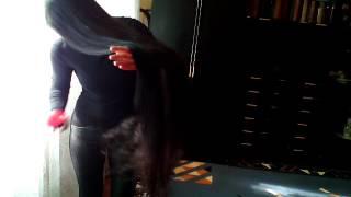 Расчесывание волос до колен. Обзор Щетки для волос Hairway Compact Easy Combing Circles.