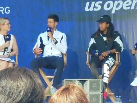 Novak Djokovoic And Naomi Osaka Talk Defending US Open Championship