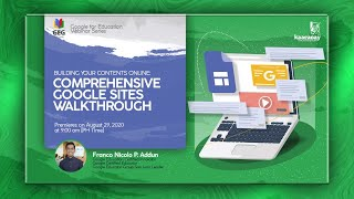 GSUITE WEBINAR SERIES: Comprehensive Google Sites Walkthrough