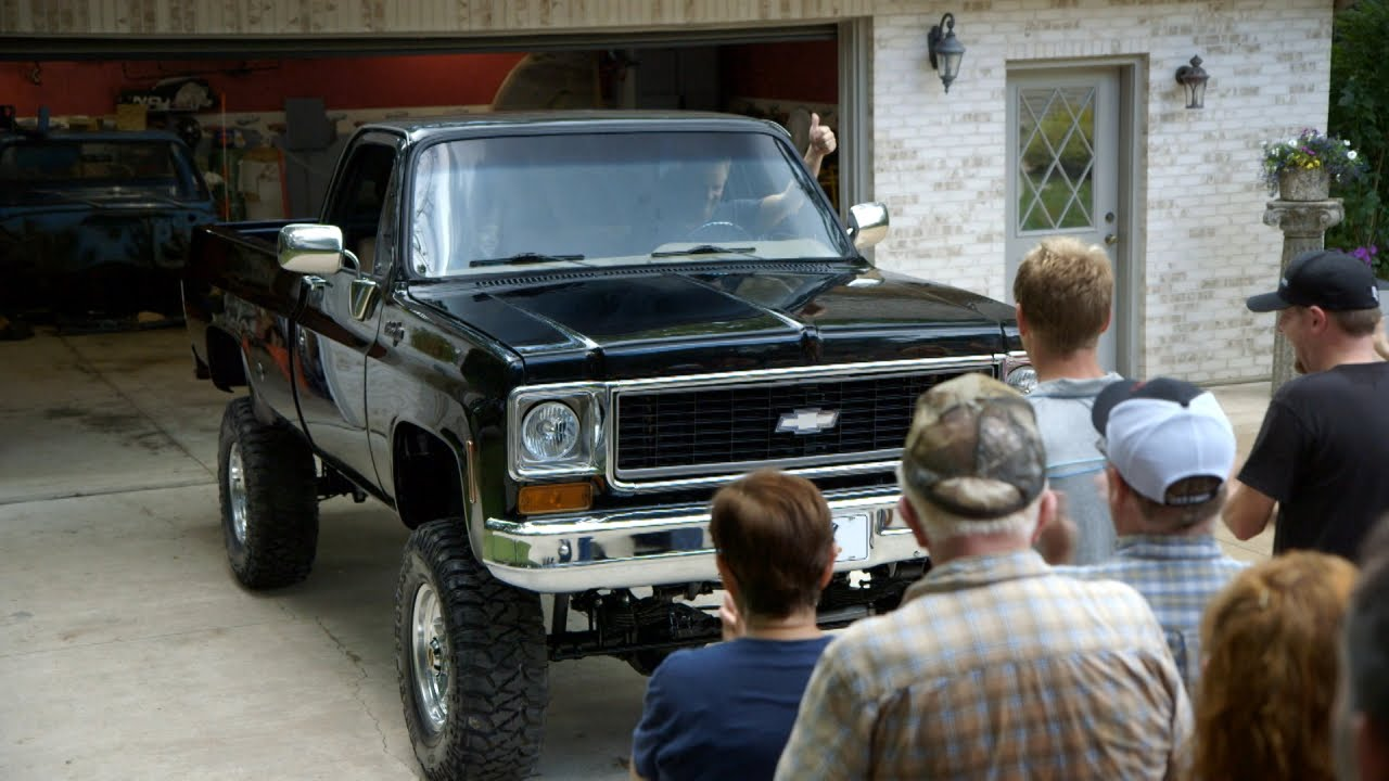 All Chevy 74 chevy : Seeing a Restored '74 Chevy Pickup for the First Time - YouTube