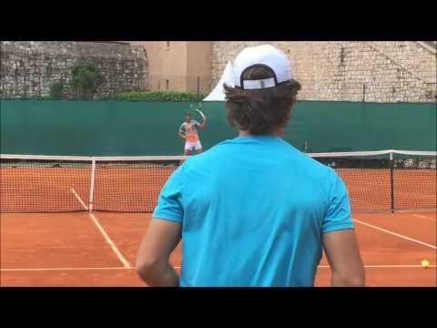 Rafael Nadal Practice Session in Monte Carlo 2017 (1080p) - Part 5