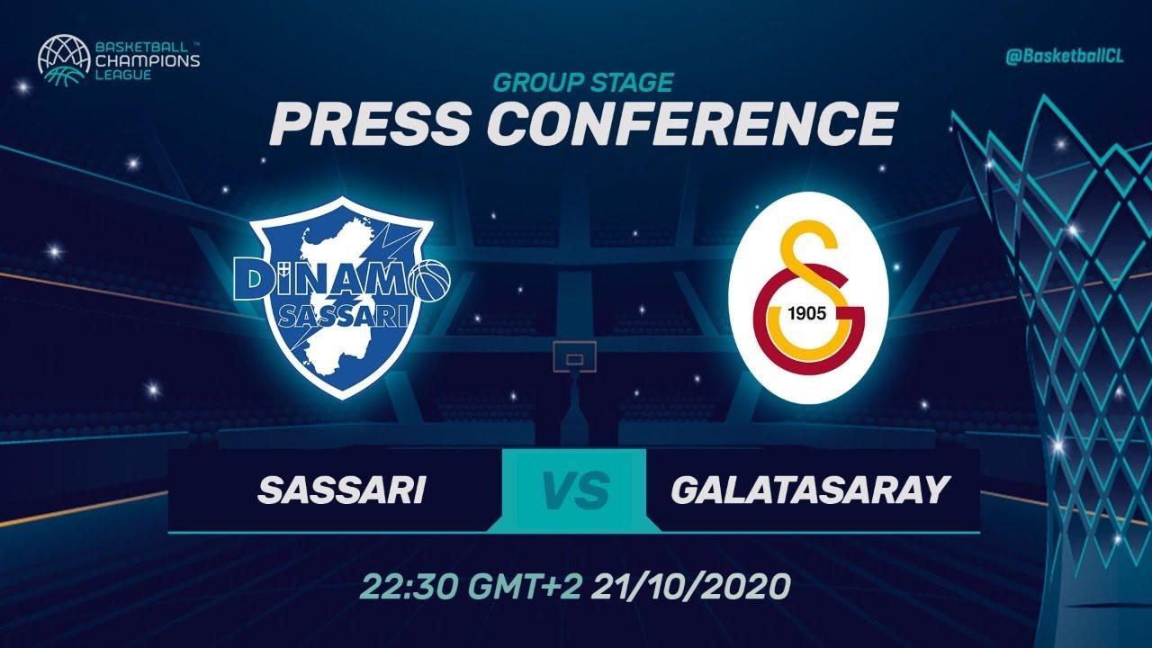 LIVE 🔴 Dinamo Sassari v Galatasaray Doga Sigorta -Press Conf.
