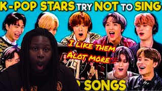 NCT 127 K-pop Stars React To Try Not To Sing Along Challenge REACTION
