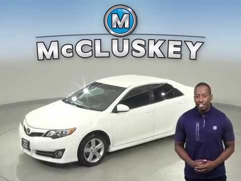 A13008WT Used 2013 Toyota Camry White Sedan Test Drive, Review, For Sale -