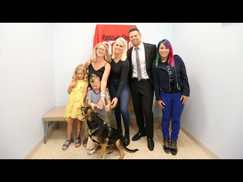 The Miz, Maryse and Asuka meet dogs from Rescue Dogs Rocks