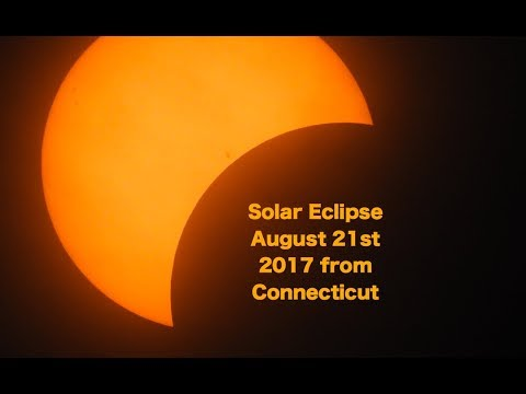 Solar Eclipse August 21 2017 from Connecticut