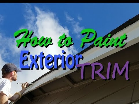 House Painting: How to Paint Exterior Trim.