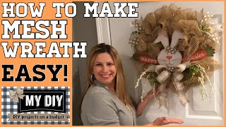 How to make a mesh wreath on wire frame