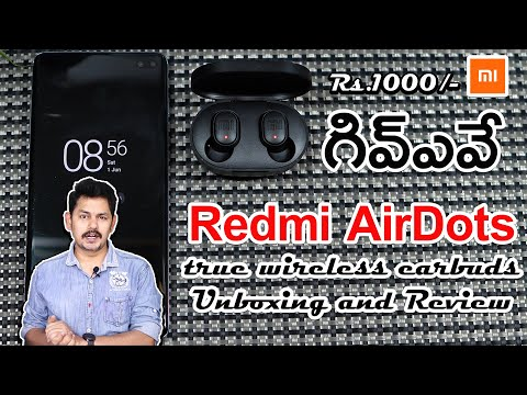 Redmi AirDots True Wireless Earbuds Unboxing And Review || Giveaway In Telugu