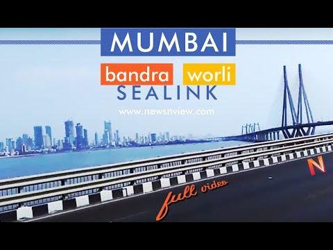 Bandra Worli Sea Link Mumbai   Cable Bridge of India   Longest Bridge on Indian Ocean
