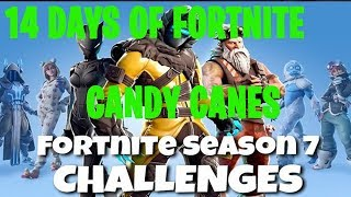 Fortnite Battle Royale   Season 7 - 14 Days of Fortnite Day 2 Challenge   Candy Cane Location Guide
