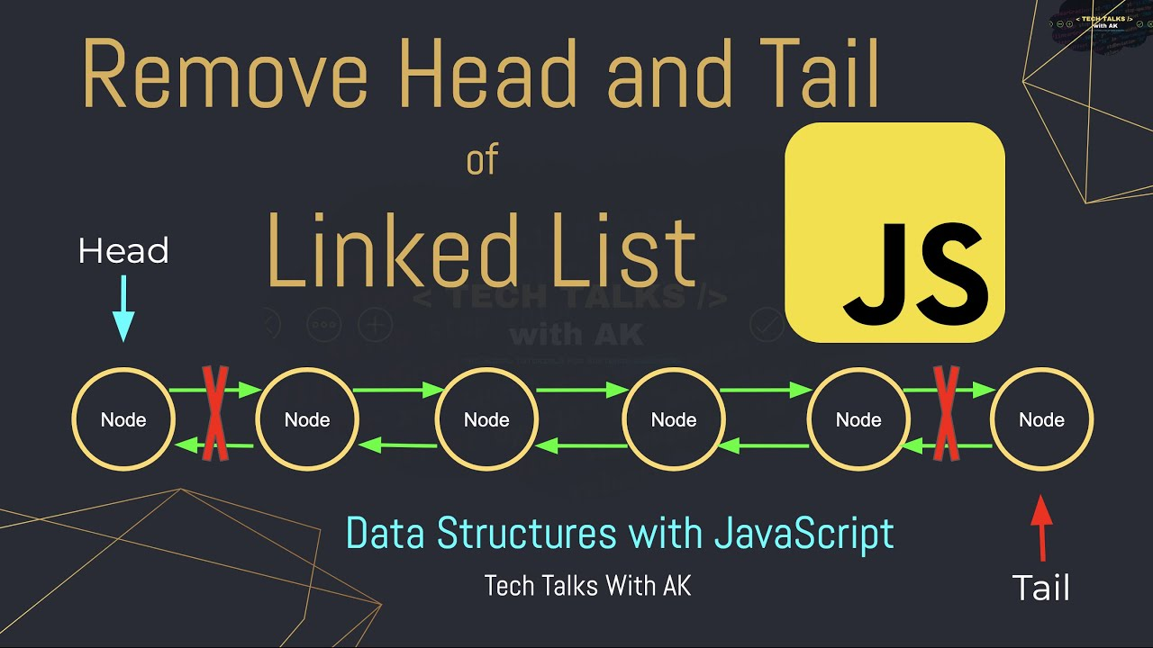 Linked List Remove Head Node | Linked List Remove Tail Node