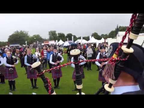 World Pipe Band Championships 2017 - Tuning up