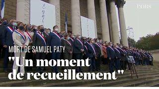 Les députés observent une minute de silence en hommage à Samuel Paty devant l'Assemblée