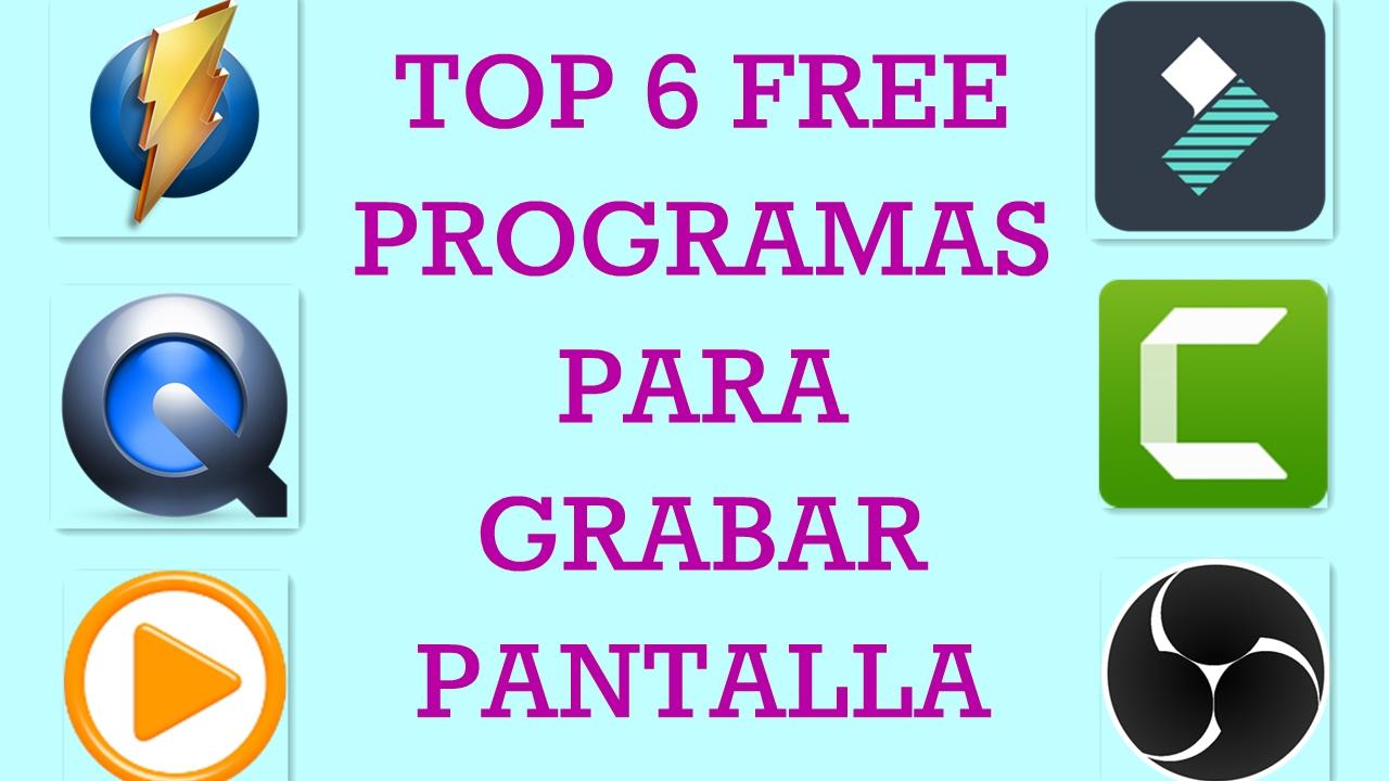 Top 5 programas gratis para grabar pantalla youtube for Programas para disenar habitaciones gratis